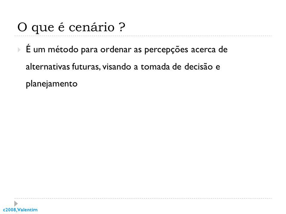 c2008, Valentim O que é cenário .