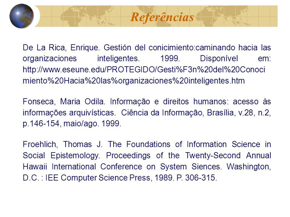 De La Rica, Enrique. Gestión del conicimiento:caminando hacia las organizaciones inteligentes.