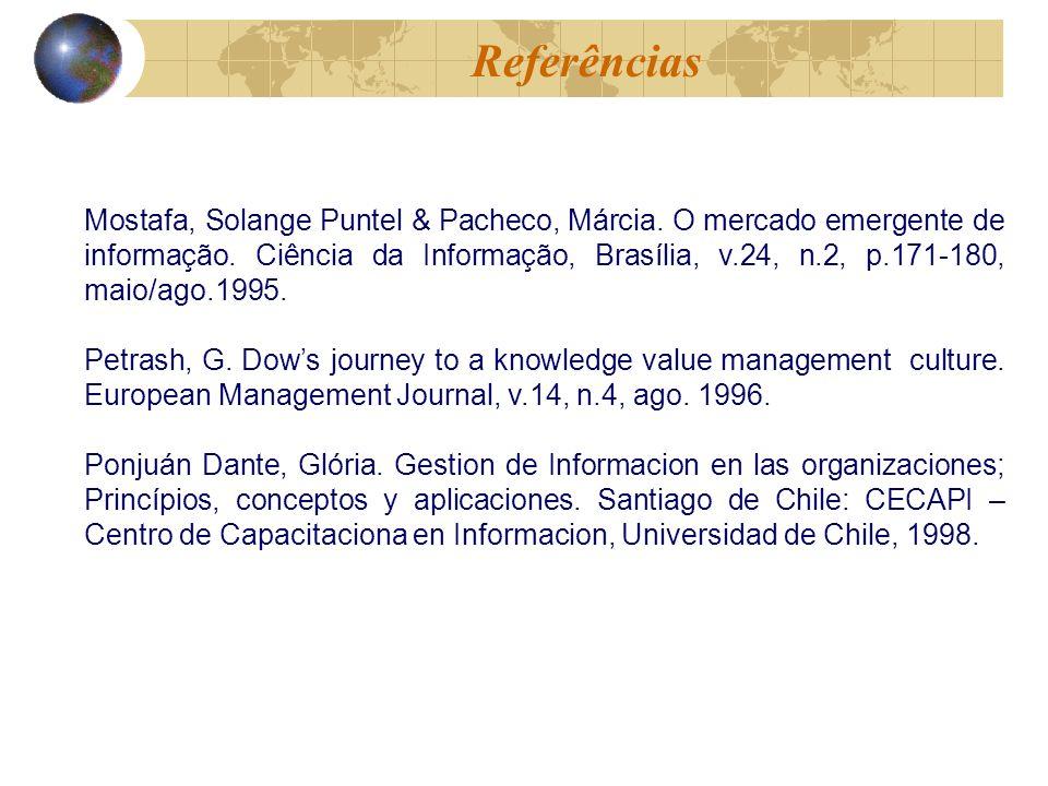 Mostafa, Solange Puntel & Pacheco, Márcia. O mercado emergente de informação.