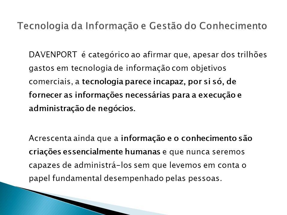 Disponibilidade em Tecnologia da Informação Portais Corporativos Taxonomias e Ontologias Popularização do Uso de Data Warehousing e Data Mining Ensino a Distância Bibliotecas Virtuais Open Archives