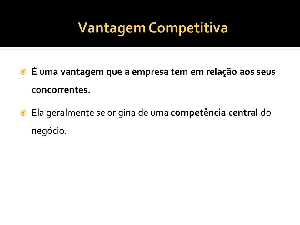 É uma vantagem que a empresa tem em relação aos seus concorrentes. Ela geralmente se origina de uma competência central do negócio.