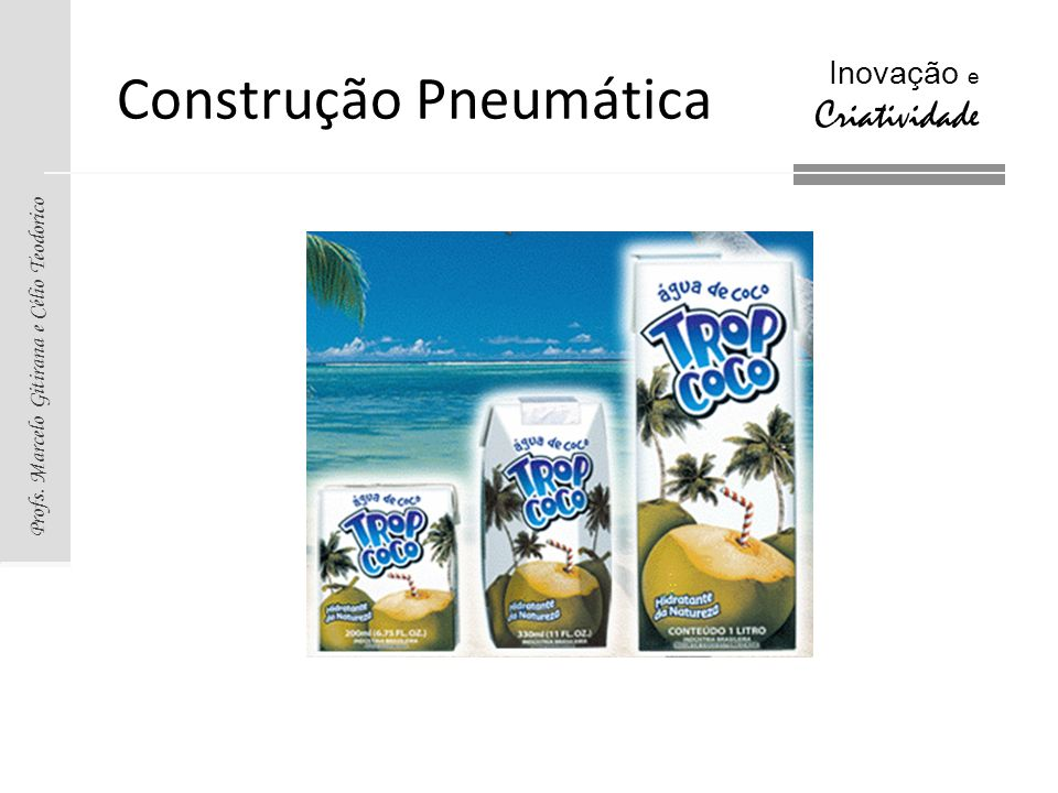 Profs. Marcelo Gitirana e Célio Teodorico Inovação e Criatividade Construção Pneumática