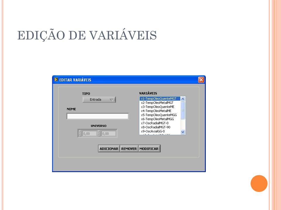 EDIÇÃO DE VARIÁVEIS
