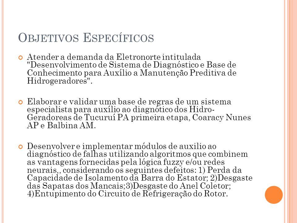 O BJETIVOS E SPECÍFICOS Atender a demanda da Eletronorte intitulada