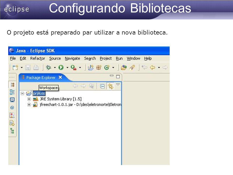 Configurando Bibliotecas O projeto está preparado par utilizar a nova biblioteca.