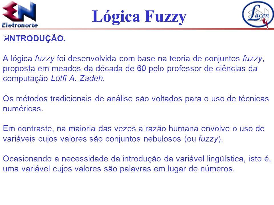 Lógica Fuzzy INTRODUÇÃO. A lógica fuzzy foi desenvolvida com base na teoria de conjuntos fuzzy, proposta em meados da década de 60 pelo professor de c