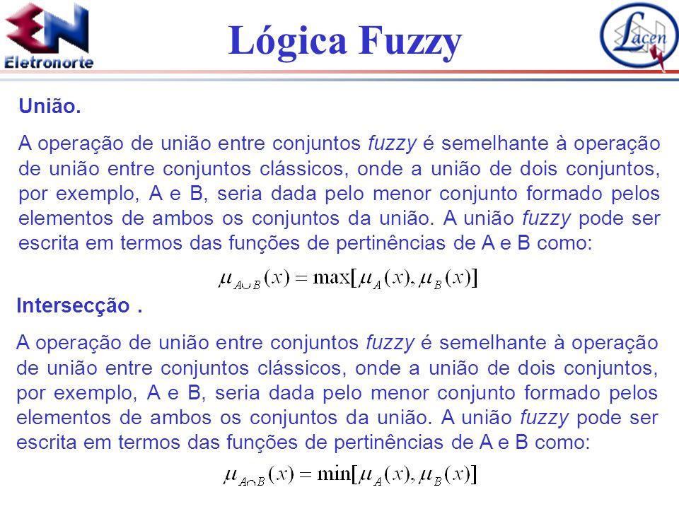 Lógica Fuzzy União. A operação de união entre conjuntos fuzzy é semelhante à operação de união entre conjuntos clássicos, onde a união de dois conjunt