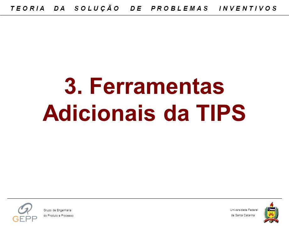 3. Ferramentas Adicionais da TIPS T E O R I A D A S O L U Ç Ã O D E P R O B L E M A S I N V E N T I V O S Universidade Federal de Santa Catarina Grupo