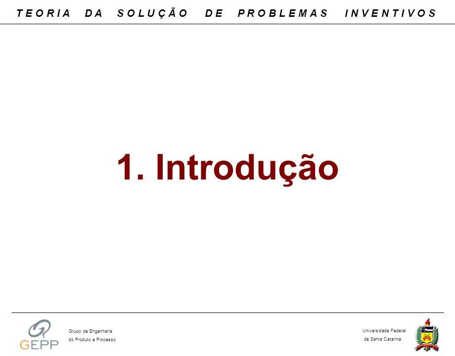 1. Introdução T E O R I A D A S O L U Ç Ã O D E P R O B L E M A S I N V E N T I V O S Universidade Federal de Santa Catarina Grupo de Engenharia do Pr