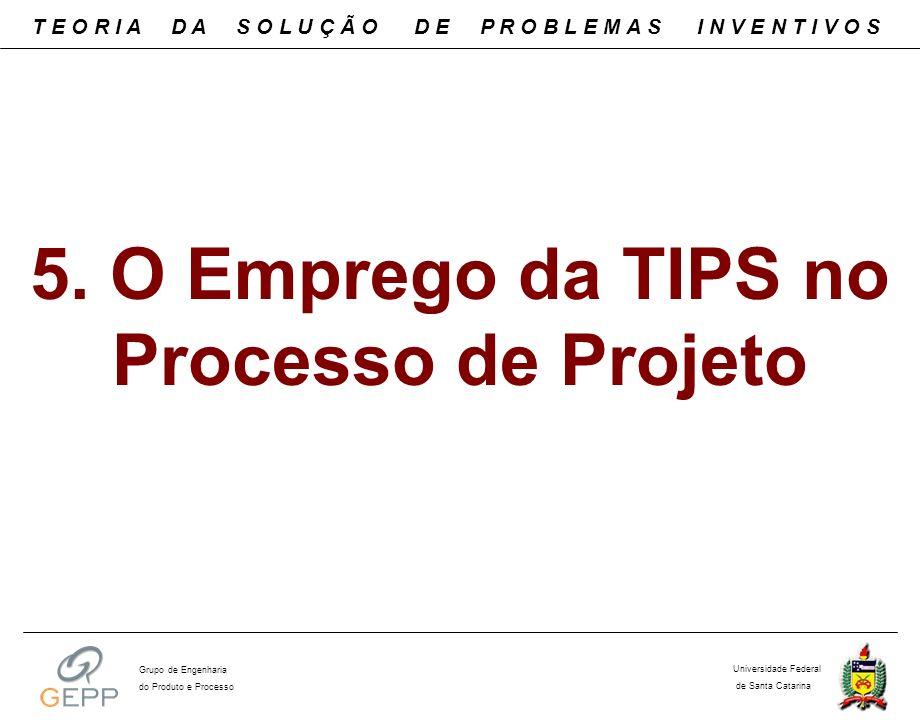 5. O Emprego da TIPS no Processo de Projeto T E O R I A D A S O L U Ç Ã O D E P R O B L E M A S I N V E N T I V O S Universidade Federal de Santa Cata