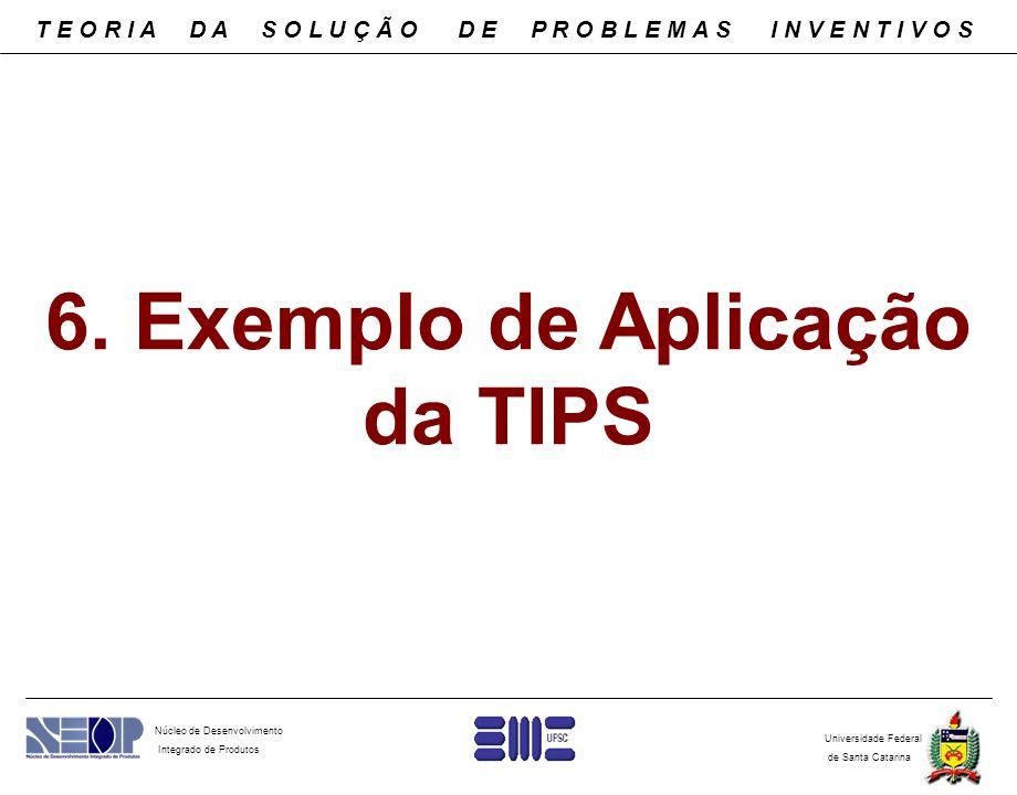 Núcleo de Desenvolvimento Integrado de Produtos Universidade Federal de Santa Catarina 6. Exemplo de Aplicação da TIPS T E O R I A D A S O L U Ç Ã O D