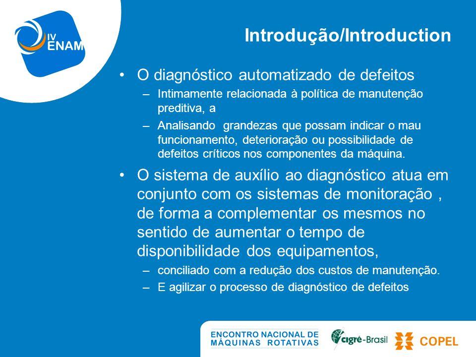 Sistema de Auxilio a Diagnostico O sistema: – Consiste em um software composto por módulos de auxílio ao diagnóstico de defeitos em hidrogeradores.