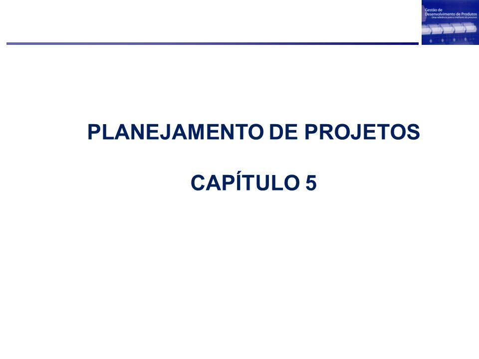 PLANEJAMENTO DE PROJETOS CAPÍTULO 5
