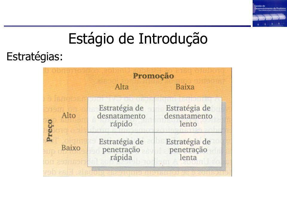 Estágio de Introdução Estratégias: