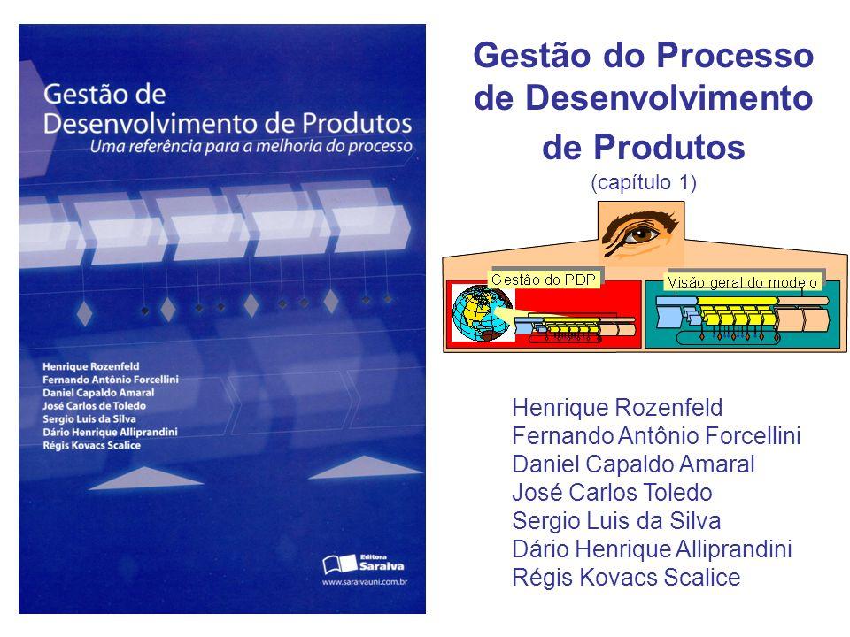 Gestão do Processo de Desenvolvimento de Produtos (capítulo 1) Henrique Rozenfeld Fernando Antônio Forcellini Daniel Capaldo Amaral José Carlos Toledo