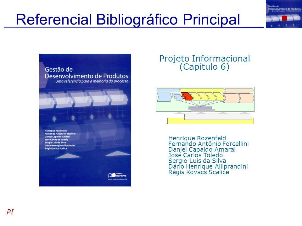 Referencial Bibliográfico Principal PI Henrique Rozenfeld Fernando Antônio Forcellini Daniel Capaldo Amaral José Carlos Toledo Sergio Luis da Silva Dá