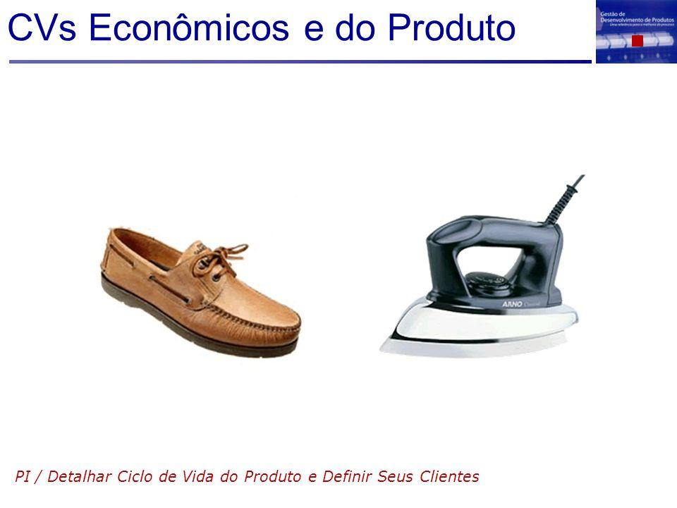 CVs Econômicos e do Produto PI / Detalhar Ciclo de Vida do Produto e Definir Seus Clientes