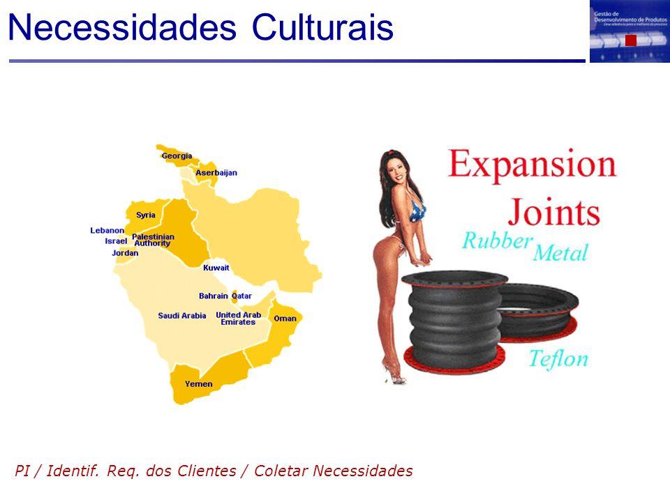 Necessidades Culturais PI / Identif. Req. dos Clientes / Coletar Necessidades