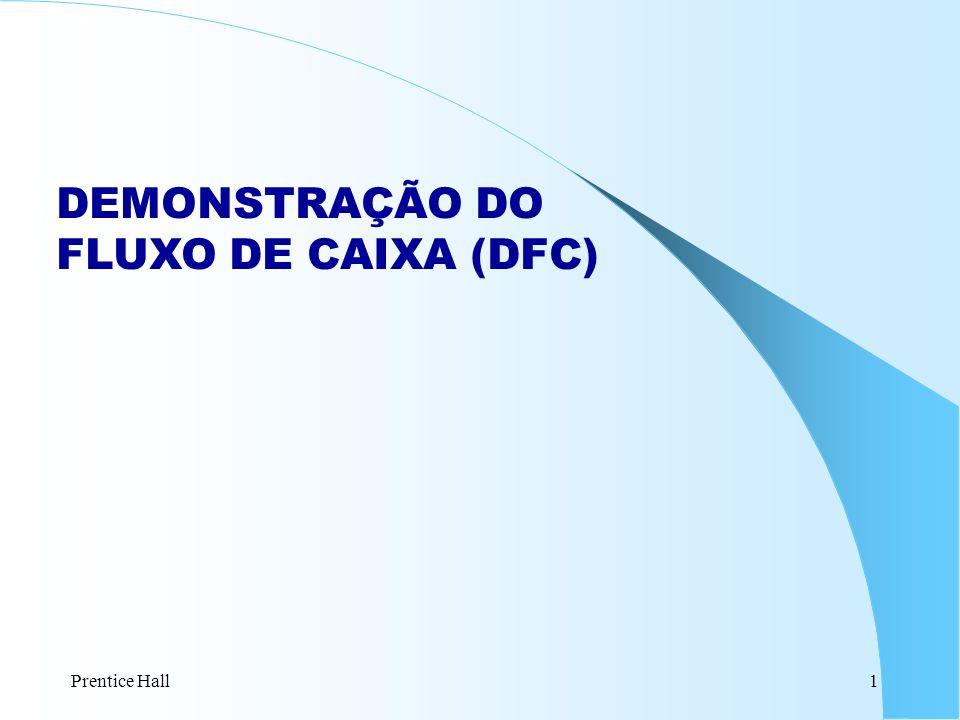 Prentice Hall1 DEMONSTRAÇÃO DO FLUXO DE CAIXA (DFC)
