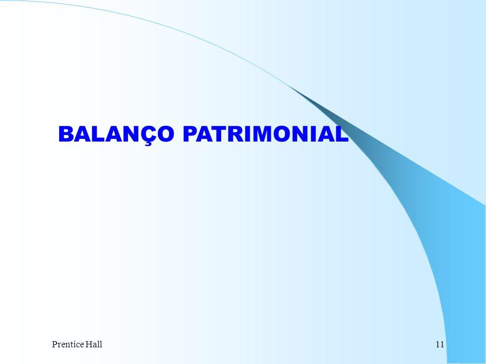 Prentice Hall11 BALANÇO PATRIMONIAL