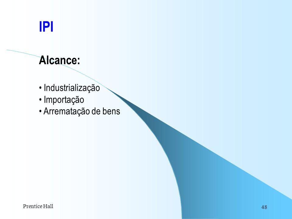 48 IPI Alcance: Industrialização Importação Arrematação de bens Prentice Hall