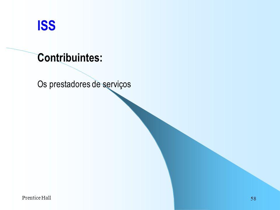 58 ISS Contribuintes: Os prestadores de serviços Prentice Hall