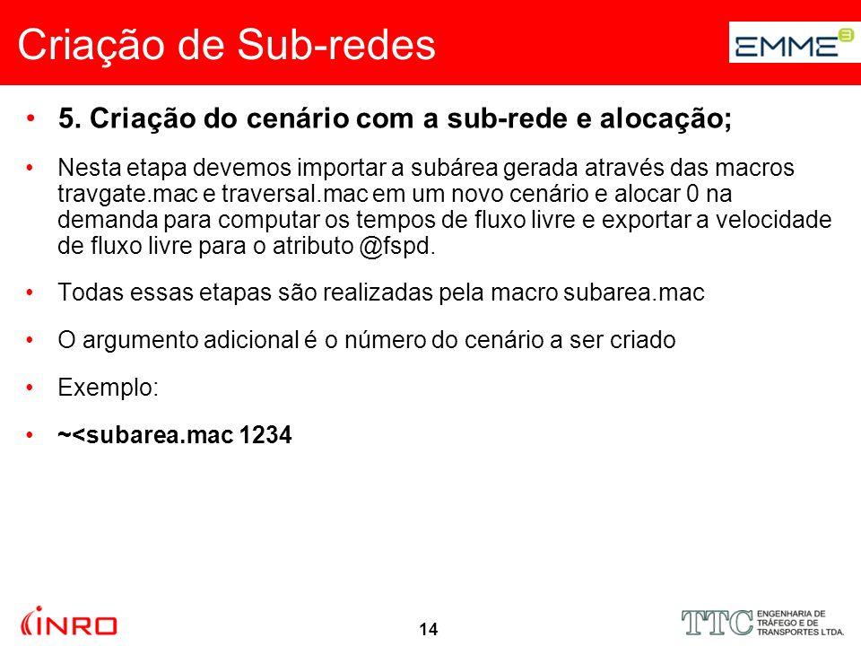 15 Criação de Sub-redes 5.