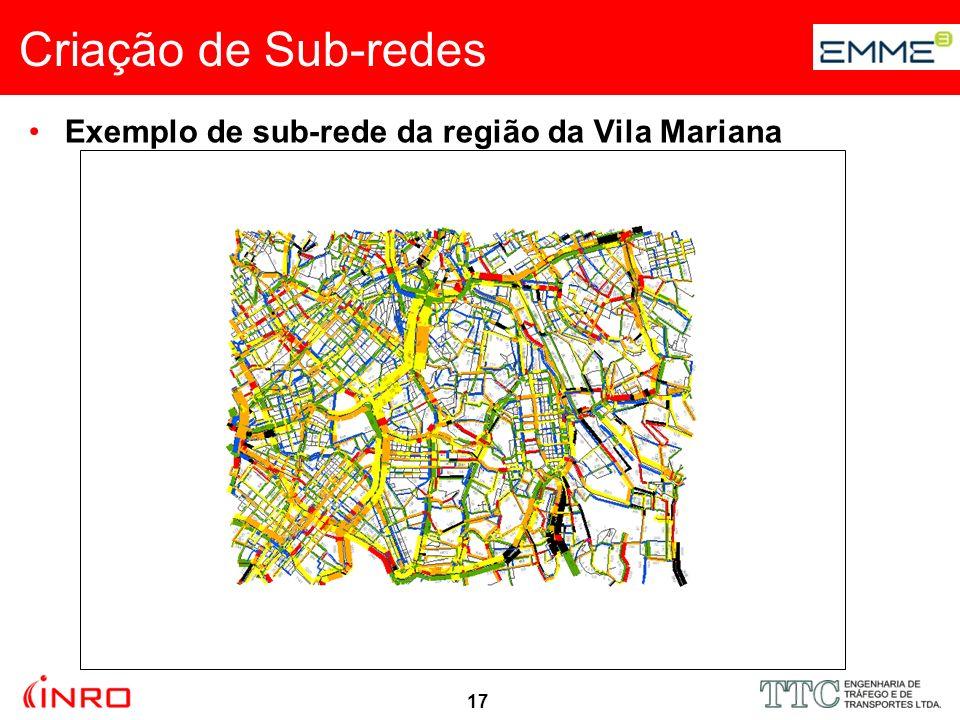18 Exemplo de sub-rede da região da Vila Mariana Criação de Sub-redes