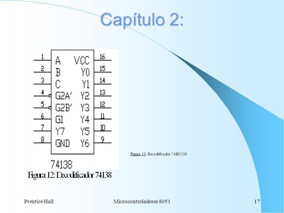 Prentice Hall17Microcontroladores 8051 Capítulo 2: Figura 10: Decodificador 74HC138