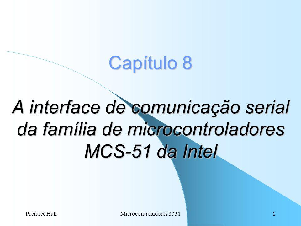 Prentice HallMicrocontroladores 80511 Capítulo 8 A interface de comunicação serial da família de microcontroladores MCS-51 da Intel