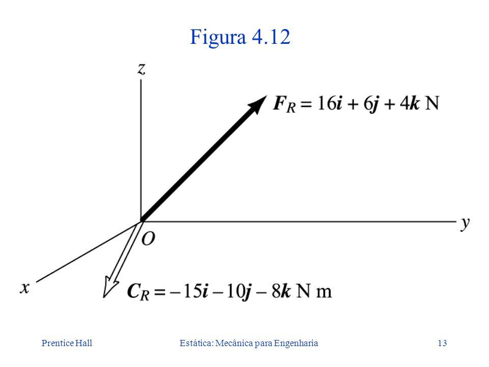 Prentice HallEstática: Mecânica para Engenharia13 Figura 4.12