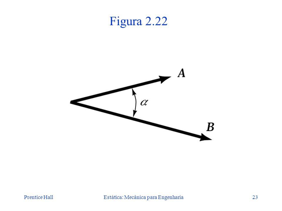 Prentice HallEstática: Mecânica para Engenharia23 Figura 2.22