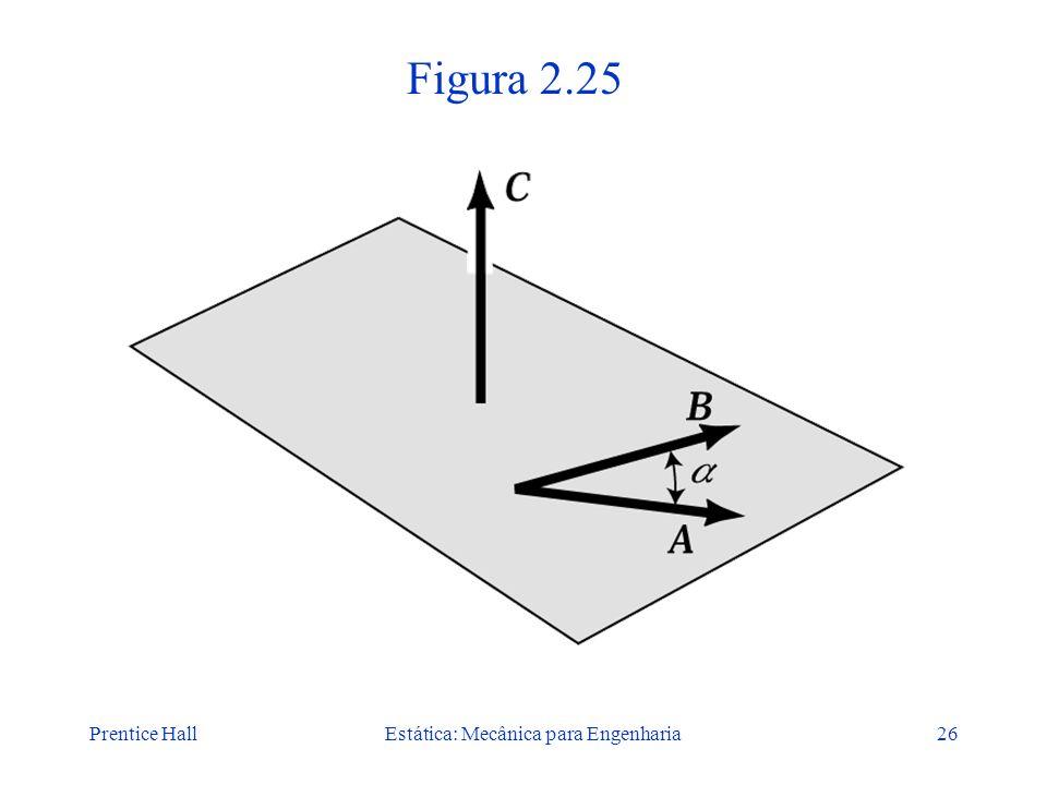 Prentice HallEstática: Mecânica para Engenharia26 Figura 2.25