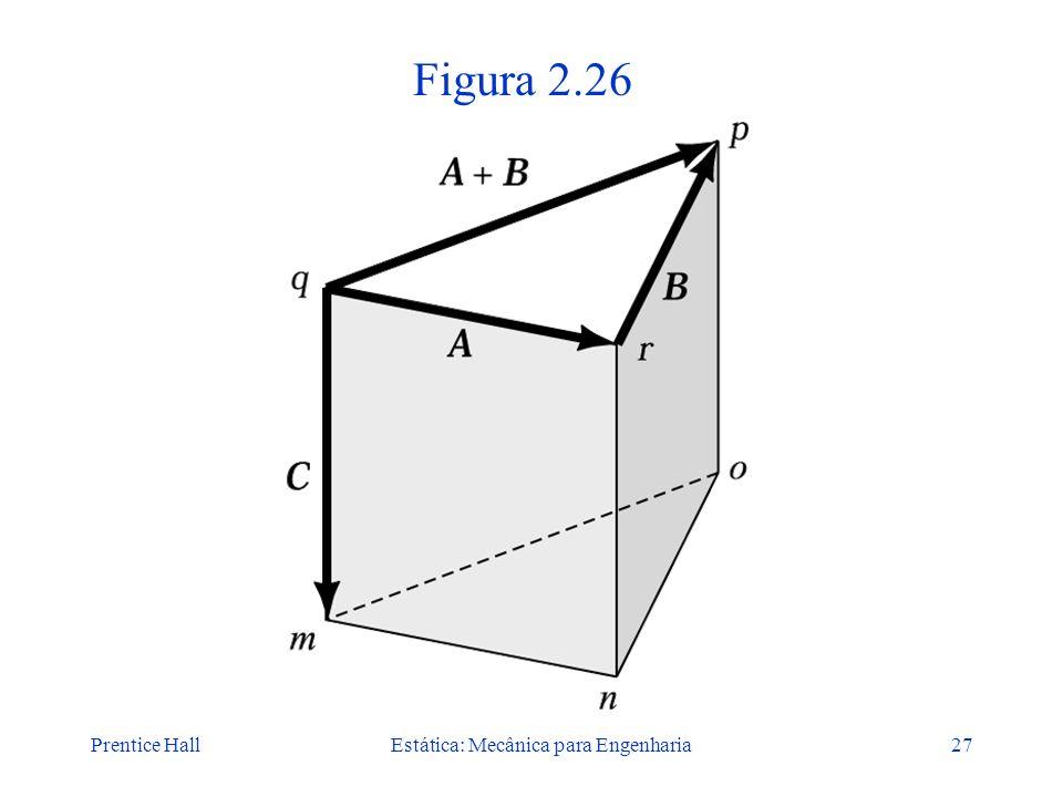 Prentice HallEstática: Mecânica para Engenharia27 Figura 2.26