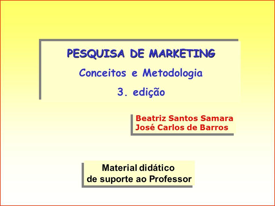 PESQUISA DE MARKETING Conceitos e Metodologia 3. edição PESQUISA DE MARKETING Conceitos e Metodologia 3. edição Material didático de suporte ao Profes