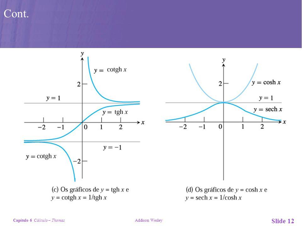 Capítulo 6 Cálculo – Thomas Addison Wesley Slide 12 Cont.