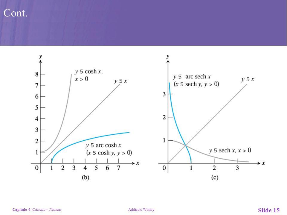 Capítulo 6 Cálculo – Thomas Addison Wesley Slide 15 Cont.
