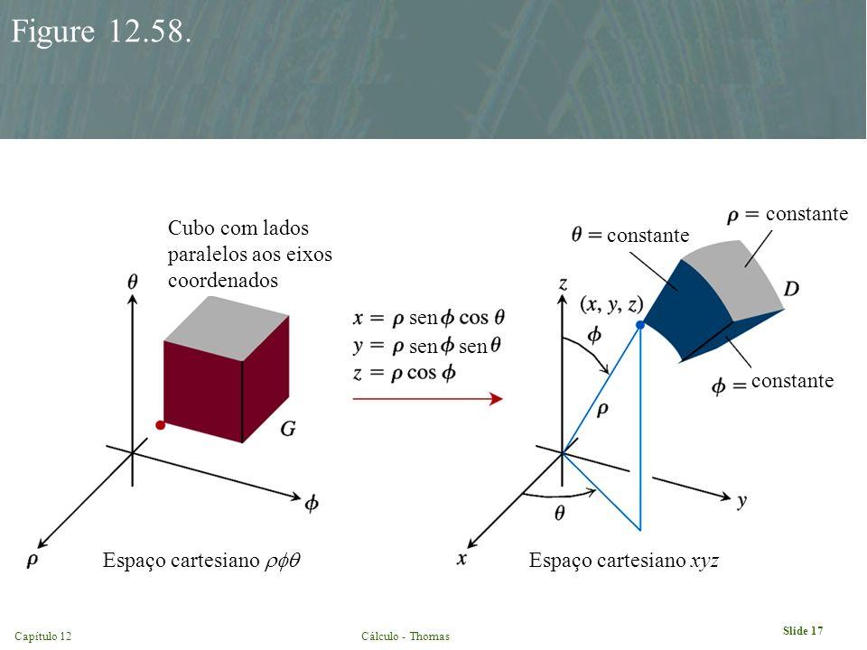 Capítulo 12Cálculo - Thomas Slide 17 Figure 12.58. constante Espaço cartesiano xyz Cubo com lados paralelos aos eixos coordenados Espaço cartesiano se