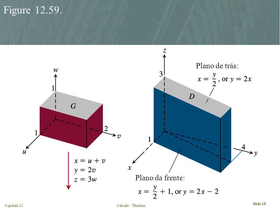 Capítulo 12Cálculo - Thomas Slide 18 Figure 12.59. Plano de trás: Plano da frente: