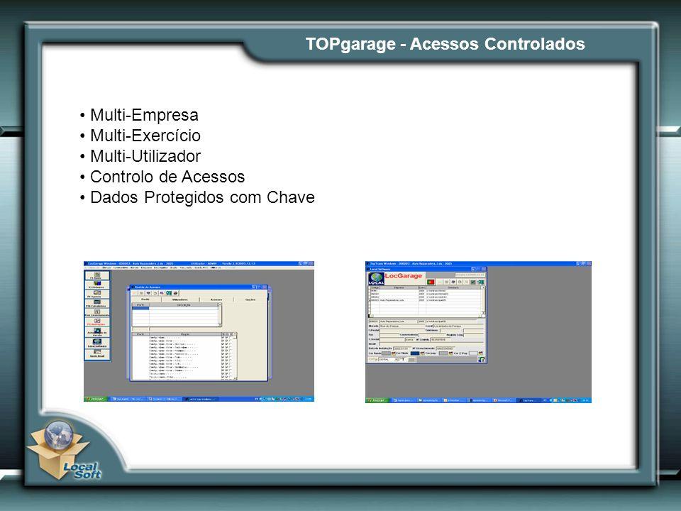TOPgarage - Acessos Controlados Multi-Empresa Multi-Exercício Multi-Utilizador Controlo de Acessos Dados Protegidos com Chave