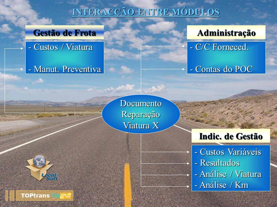 DocumentoReparação Viatura X - C/C Forneced. - Contas do POC - Custos / Viatura - Manut. Preventiva - Custos Variáveis - Resultados - Análise / Viatur