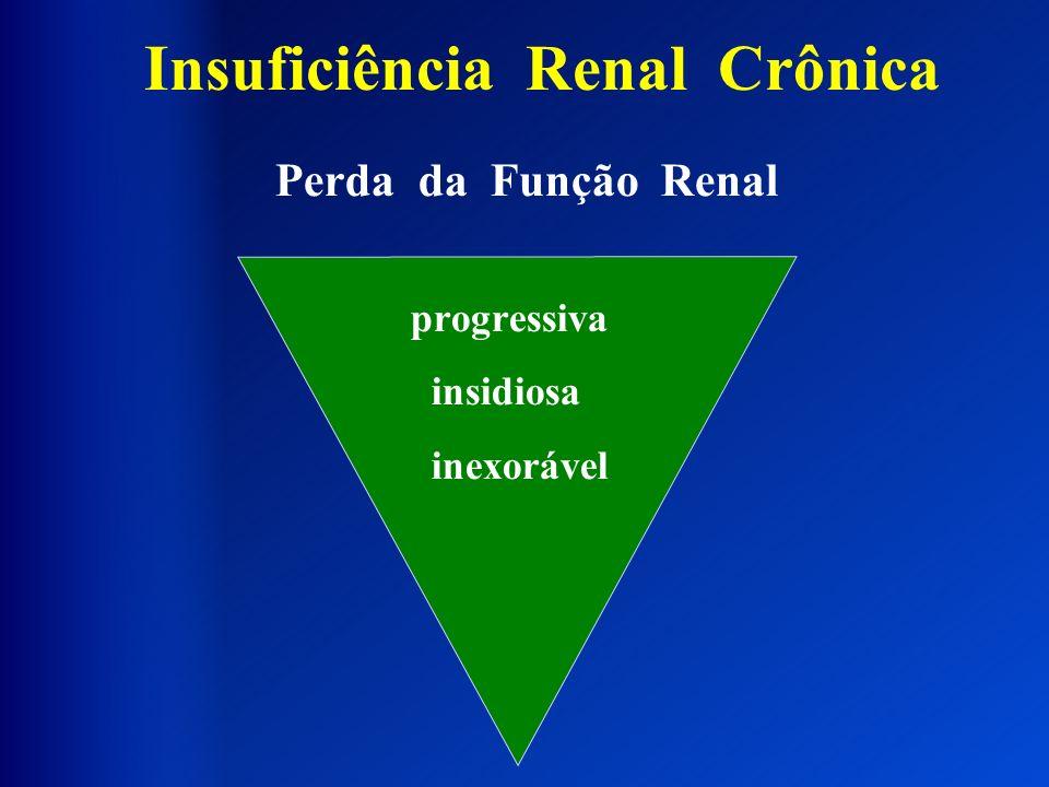 Perda da Função Renal progressiva insidiosa inexorável Insuficiência Renal Crônica