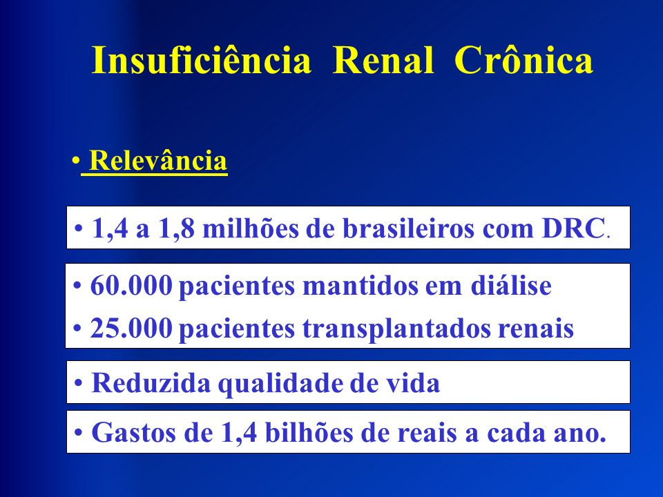 0 10000 20000 30000 40000 50000 60000 2000 200120022003 24092540 2812 2785 46557 48806 54523 58464 DRC DIALÍTICA NO BRASIL Pts em TRS Nefrologistas Romão Jr.