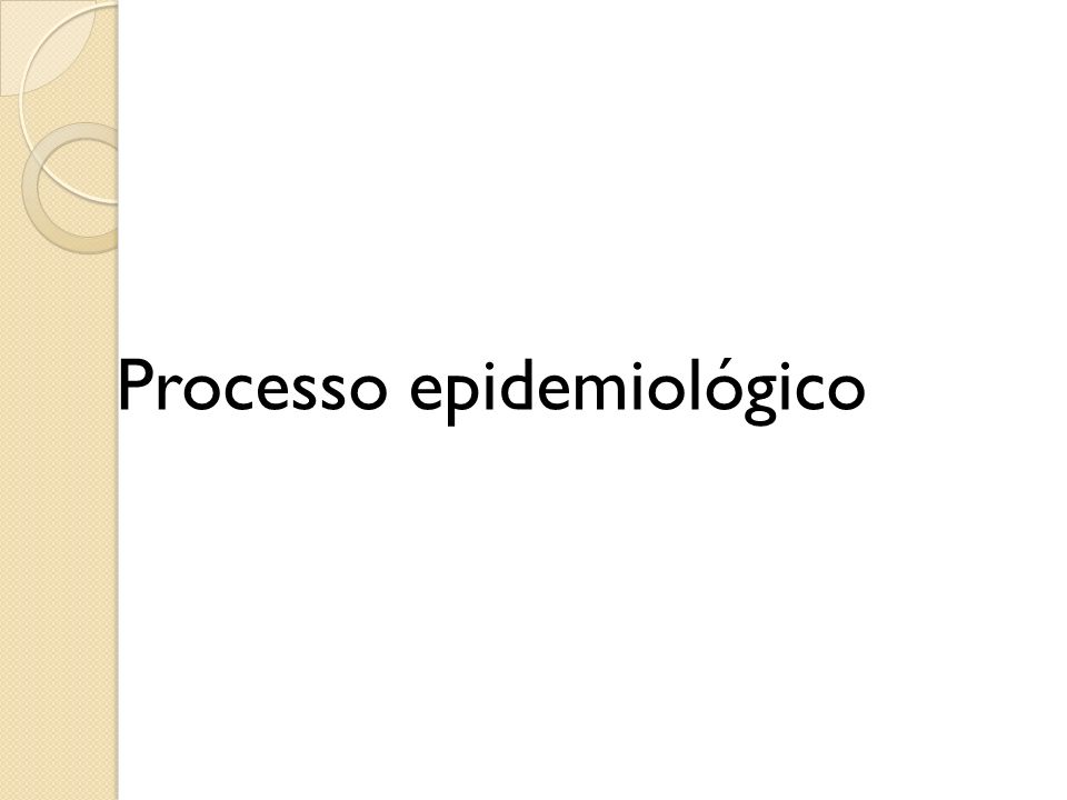 Processo epidemiológico
