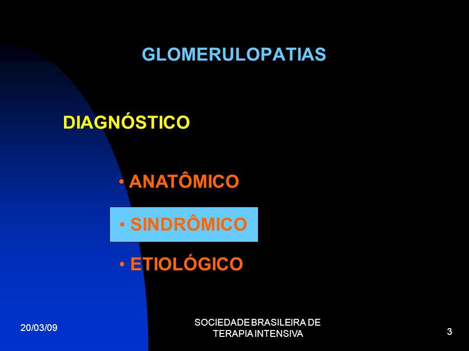 GLOMERULONEFRITE S 20/03/09 SOCIEDADE BRASILEIRA DE TERAPIA INTENSIVA 4 MANIFESTAÇÕES DAS DOENÇAS GLOMERULARES S.NEFRÍTICA S.NEFRÓTICA Hematúria Proteinúria Edema Hipoproteinemia Hipertensão Hiperlipidemia Oligúria Edema