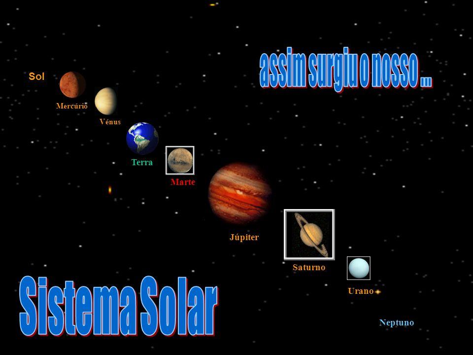 Sol Vénus Terra Marte Mercúrio Júpiter Saturno Urano Neptuno