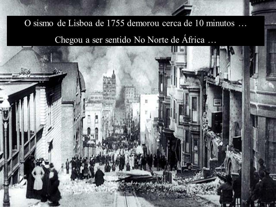 Ao todo morreram esmagadas, afogadas ou queimadas cerca de 60 000 pessoas, tendo ruído cerca de 10 000 casas. Lisboa ficou reduzida a destroços e cinz