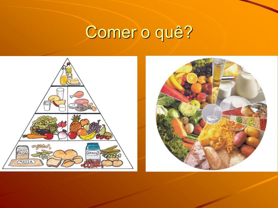 GRUPOS DE ALIMENTOS Os alimentos são todas as substâncias que, depois de ingeridas, irão ser degradadas em partículas mais pequenas (nutrientes) pelo tubo digestivo.