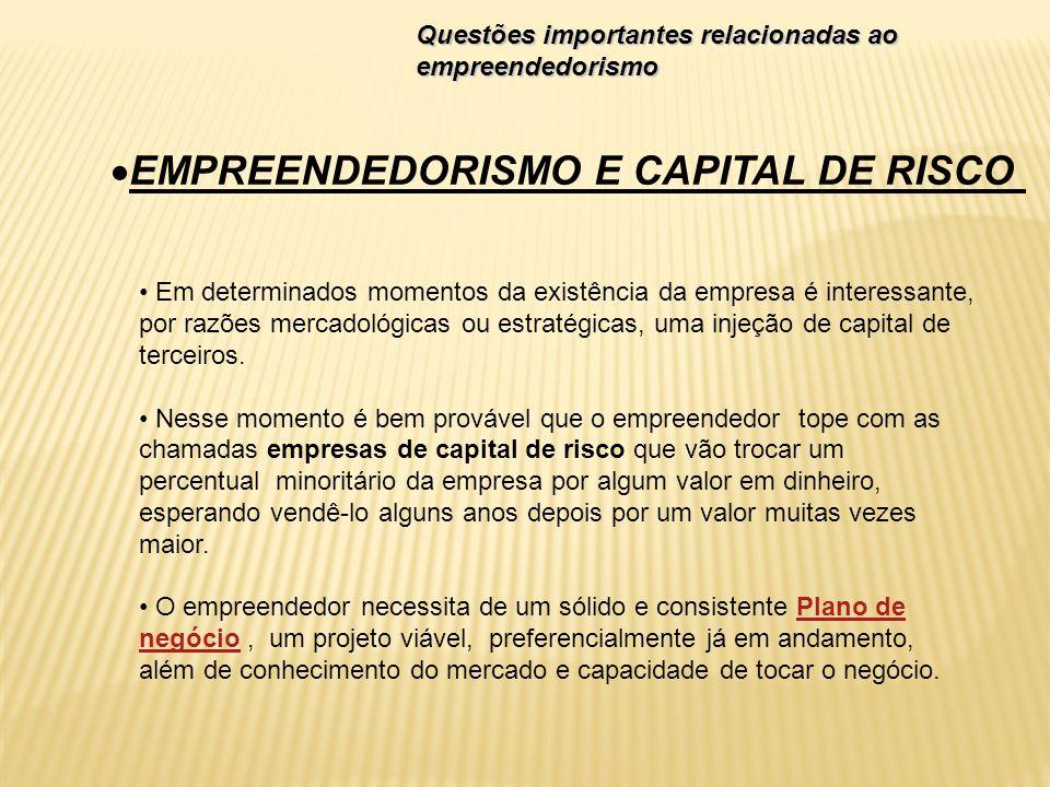 Em determinados momentos da existência da empresa é interessante, por razões mercadológicas ou estratégicas, uma injeção de capital de terceiros. Ness