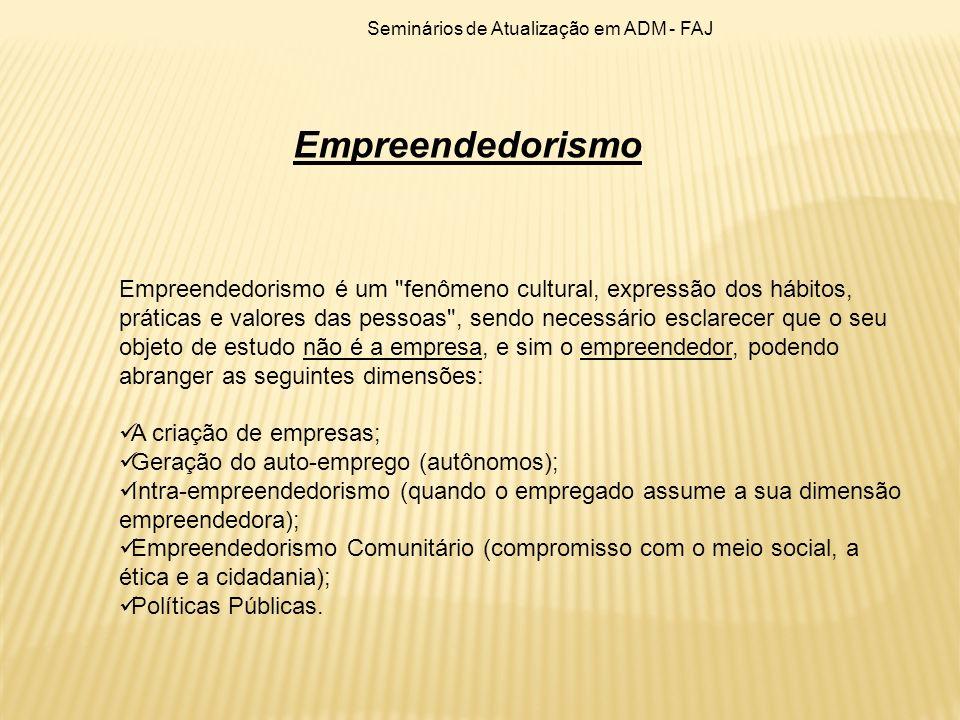 Empreendedorismo é um